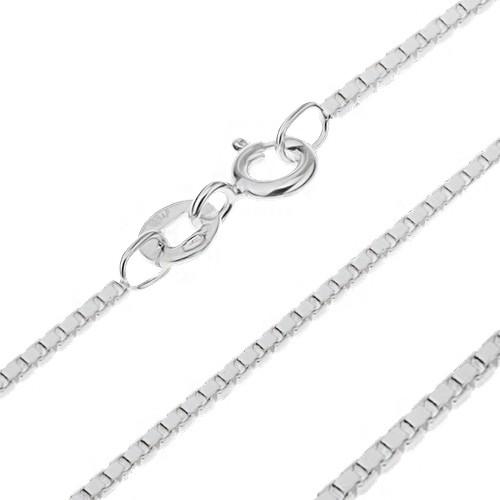 Bijuterii eshop - Lănțișor argint - cuburi lucioase unite, 1 mm AA18.15