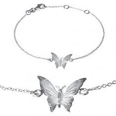 Brățară argint 925 - fluturaș gravat pe lănțișor