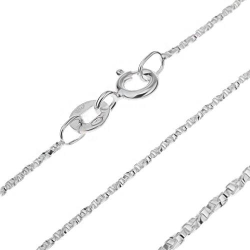 Bijuterii eshop - Lănțișor argint - cuburi răsucite unite perpendicular, 0,9 mm AA18.04