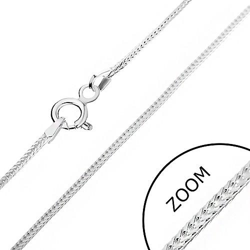 Bijuterii eshop - Lănțișor argint - linie din ochiuri cu margini, 1 mm AB2.05