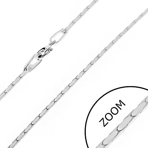 Bijuterii eshop - Lănțișor realizat din argint 925 - cu linie unghiulară de zale ovale, 1 mm AB24.15