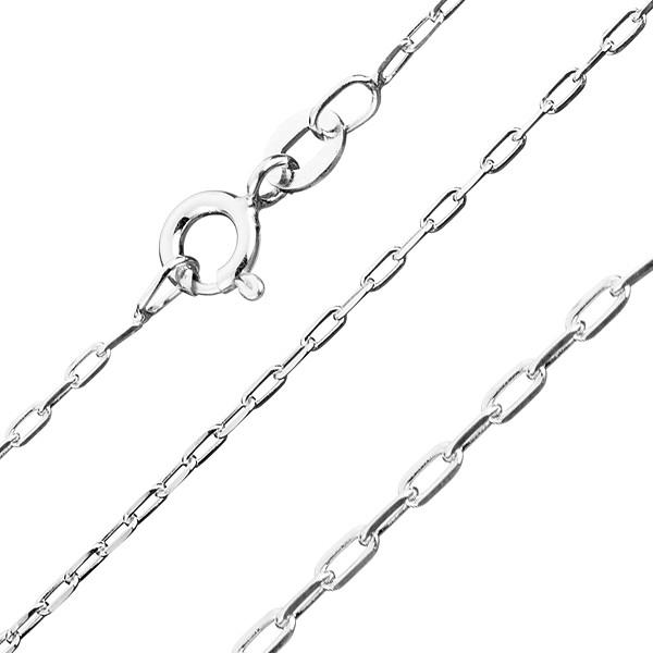 Bijuterii eshop - Lanț din argint 925  - dreptunghiuri netede, 1,4 mm AB19.06
