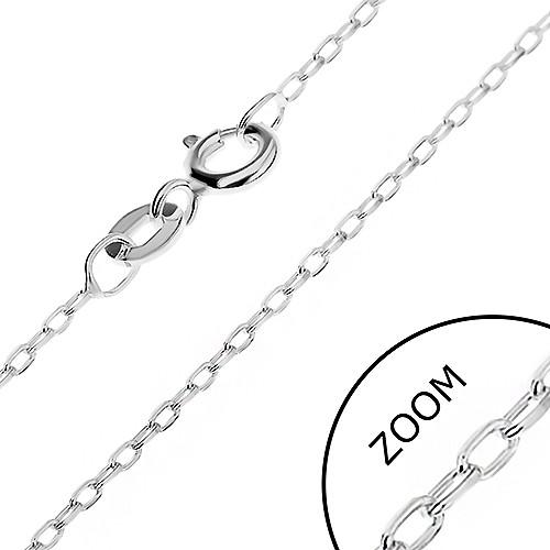 Bijuterii eshop - Lănțișor realizat din argint 925 - cu zale ovale netede atașate vertical, 1,5 mm AB18.10