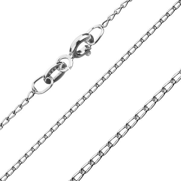 Bijuterii eshop - Lănțișor din argint - cu zale rotunde alungite, 1 mm AB16.17