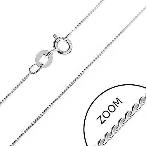 Bijuterii eshop - Lănțișor din argint - o linie finuță model șarpe formată din S-uri rotunjite, 0,6 mm AB10.10
