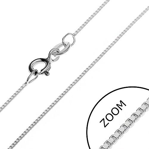 Bijuterii eshop - Lănțișor din argint - format din cuburi goale unite oblic, 0,7 mm AA10.12