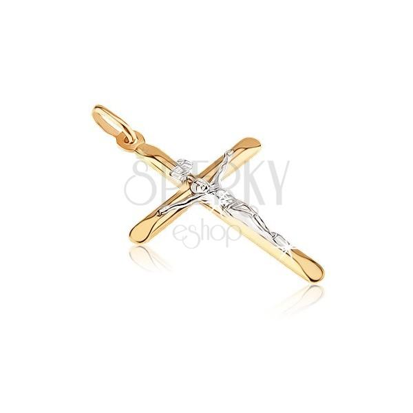 Pandantiv din aur - pandantiv cu brațe ovale oblice și Iisus