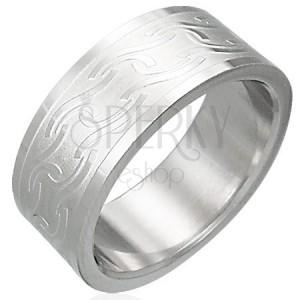 Inel din oțel inoxidabil cu diverse linii lucioase