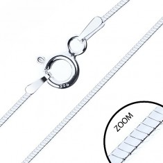 Lănțișor din argint 925, model dreptunghiular șarpe, 1 mm