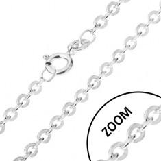 Lănțișor format din elemente de legătură rotunde atașate perpendicular, argint 925, 1,2 mm