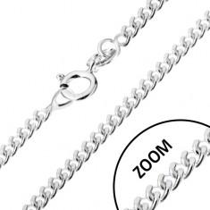 Lănțișor din argint 925, cu elemente de legătură rotunde răsucite, 1,4 mm