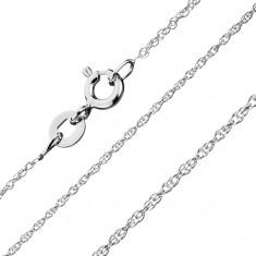 Lanţ din argint 925 - linie răsucită, zale în spirală 1,3 mm