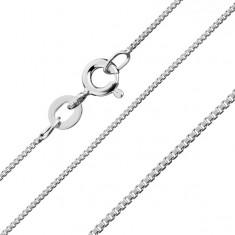 Lanţ realizat din forme pătrate unite în unghiuri drepte, argint 925, 1,1 mm