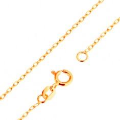 Lanţ din aur de 9K - zale netede ovale, model Rolo, 500 mm