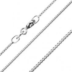 Lanţ din argint 925, zale unghiulare lucioase unite dens, 1,1 mm