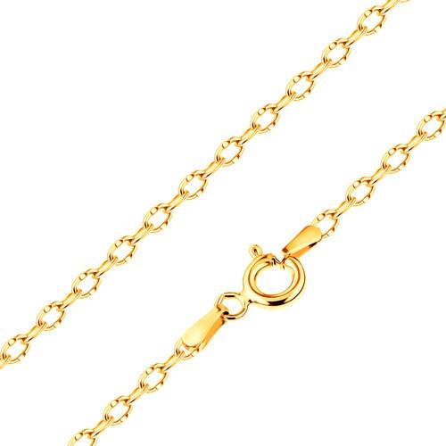 Bijuterii eshop - Lanț realizat din aur galben de 14K,  zale lucioase cu crestături, 500 mm GG187.25