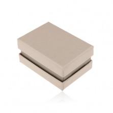 Cutie din carton pentru inel,verighete sau cercei,culoare bej perlat si gri
