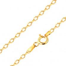 Bratara realizata din aur galben 585,zale lucioase si ovale cu crestaturi, 190 mm