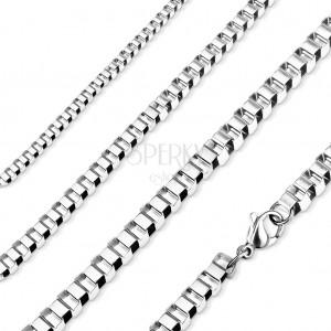 Lanț din oțel 316L, zale unghiulare, culoare argintie