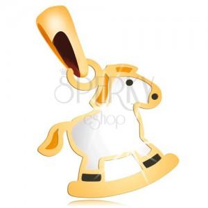 Pandantiv din aur galben de 14K- cal balansator cu coamă galbenă