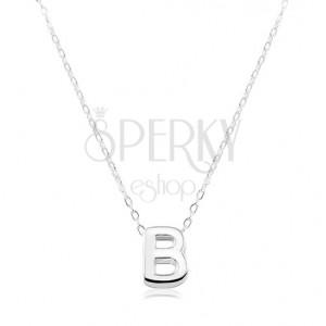 Colier din argint 925 - lanț strălucitor și litera B