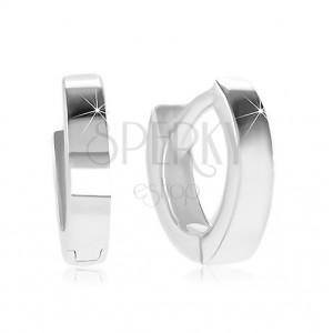 Cercei din argint 925 - cercuri cu suprafața netedă și strălucitoare
