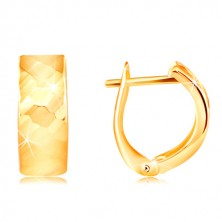 Cercei din aur galben de 14K - suprafață strălucitoare și rafinată