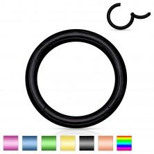 Piercing din oțel inoxidabil, cerc simplu și lucios, 0,8 mm