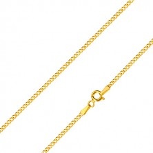 Lanț din aur galben 585 - conexiune în serie de zale ovale, 450 mm