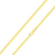 Brățară realizată din aur 585 - conexiune cu zale în serie, 200 mm