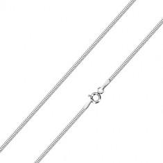 Lanț din aur alb de 14K - zale stil piele de șarpe, 500 mm