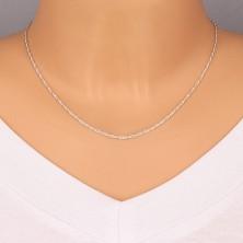 Lănțișor argint - ochiuri fine, răsucite, 1,7 mm