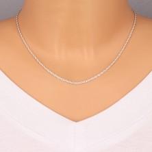Lănțișor argint - ochiuri fine, răsucite, 1,9 mm