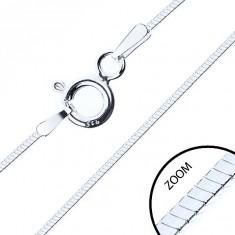 Lănțișor subțire, pătrat, argint 925, grosime 0,6 mm, lungime 500 mm