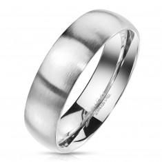 Inel din oțel de culoare argintie - finisaj mat, 4 mm