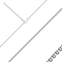 Lanț din argint 925 - verigi pătrate conectate dens, grosime 0,8 mm