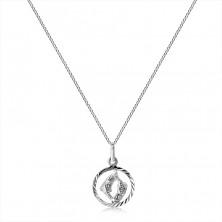 Colier din argint 925 - lanț și semn de PEȘTE