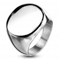 Inel din oțel inoxidabil, cerc plat lucios, culoare argintie