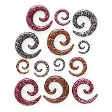 Expander pentru ureche – spirală, model leopard